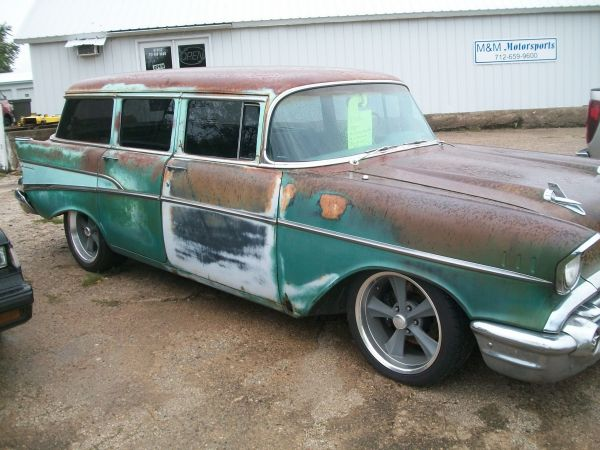1957 chevy wagon for sale at m m motorsports glidden iowa. Black Bedroom Furniture Sets. Home Design Ideas